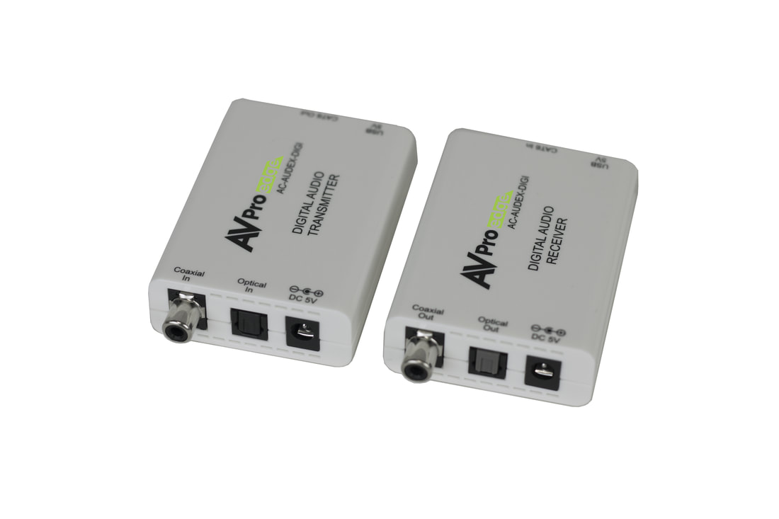 AC-AUDEX-DIGI: Toslink/Coax Digital Audio CAT Extender